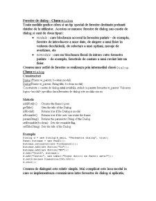 Ferestre în Java - Pagina 5
