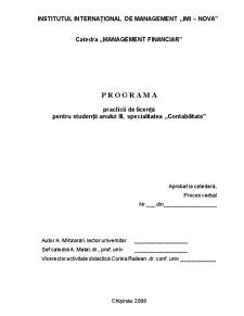 Programa Practica de Licenta - Pagina 1