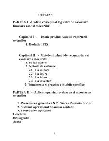 Contabilitatea si Gestiunea Imobilizarilor si a Stocurilor. Evaluare, Recunoastere si Tratamente Contabile - Pagina 2