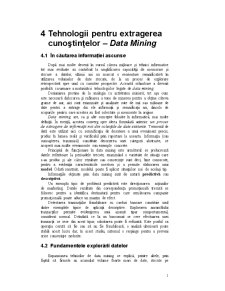 Tehnologii pentru Extragerea Cunoștințelor - Data Mining - Pagina 1
