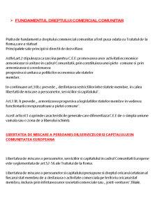 Fundamentul Dreptului Comercial Comunitar - Pagina 1