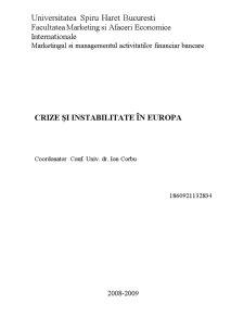 Crize și Instabilitate în Europa - Pagina 1