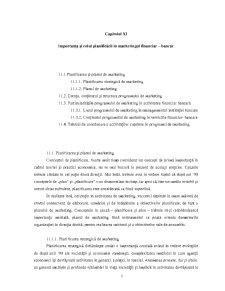 Importanta si Rolul Planificarii in Marketingul Financiar-Bancar - Pagina 1