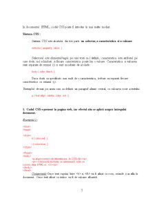 Tehnologii Web - Cascading Style Sheets - Pagina 5