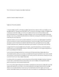 Dreptul Proprietății Intelectuale - Pagina 1