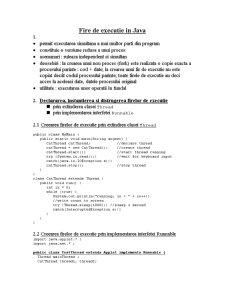 Fire de Executie in Java - Pagina 1