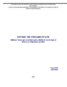 Infiintare Ferma Agro-Zootehnica prin Achizitia de Vaci de Lapte si Dotarea cu Echipamente Specifice - Pagina 1