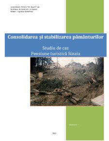 Consolidarea si Stabilizarea Pamanturilor - Studiu de Caz Pensiune Turistica Sinaia - Pagina 1
