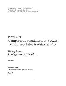 Regulator Fuzzy vs Regulator PID - Comparare - Pagina 1