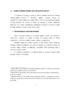 Gestiunea Riscului de Credit - Metode de Evaluare a Bonitatii Clientilor Practicate de Bancile Comerciale Romanesti - Pagina 2