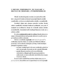 Evaluarea Riscului de Creditare a Intreprinderilor - Pagina 1