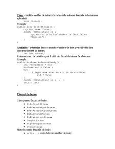 Fluxuri în Java - Pagina 3