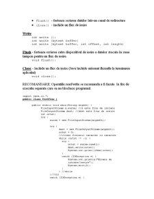 Fluxuri în Java - Pagina 4