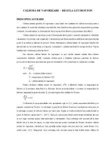 Caldura de Vaporizare - Regula lui Trouton - Pagina 1