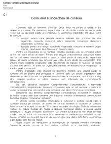 Comportamentul Consumatorului - Pagina 1