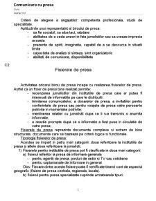 Comunicare cu Presa - Pagina 2
