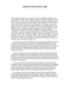 Tehnici de Manipulare - Pagina 1