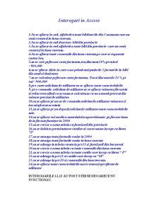 Proiect Access - Gestionare Biblioteca - Pagina 1