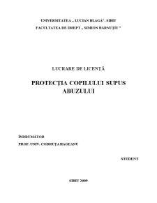 Protecția Copilului Supus Abuzului - Pagina 4