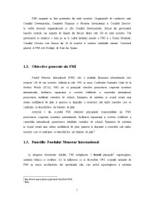 Fondul Monetar International si Relatiile acestuia cu Romania - Pagina 5