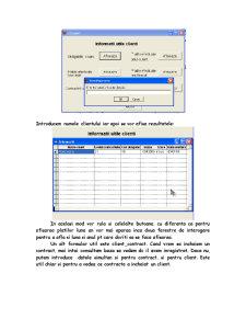 Baza de Date care Gestioneaza Activitatea unei Firme care Realizeaza Productii Agricole - Pagina 5