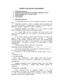 Funcții și Clase Generice - Pagina 1