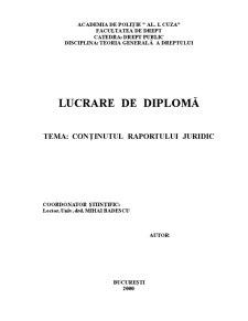 Conținutul Raportului Juridic - Pagina 1