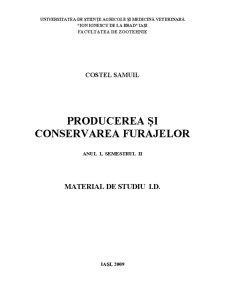 Producerea și Conservarea Furajelor - Pagina 1