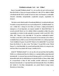 Portofoliul Creditar al Bancii Moldindconbank - Pagina 1