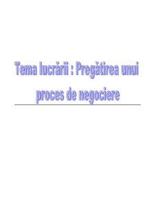 Pregatirea Procesului de Negociere - Pagina 1