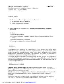 Tehnici Neconventionale in Industria Alimentare - Pagina 1