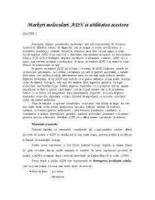 Markeri Moleculari ADN și Utilitatea Acestora - Pagina 1