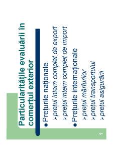 Particularitățile Evaluării în Comerțul Exterior - Pagina 1