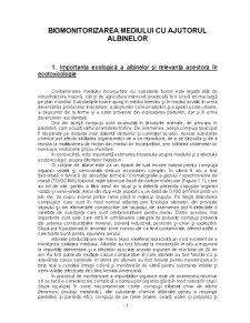 Biomonitorizarea Mediului cu Ajutorul Albinelor - Pagina 1