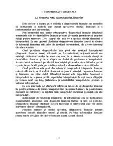 Diagnosticul Financiar la SC Omega SRL - Pagina 2