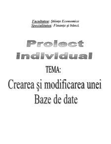 Crearea si Modificarea unei Baze de Date - Vinarie - Pagina 1