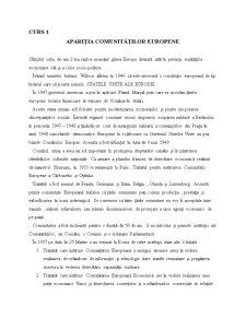 Drept Comunitar - Curs 1 - Pagina 1