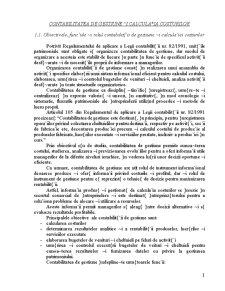Contabilitatea de Gestiune si Calculatia Costurilor - Pagina 1