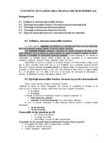 Conceptul și Clasificarea Tranzacțiilor Bursiere - Pagina 1