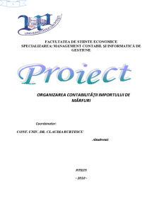 Organizarea Contabilității Importului de Mărfuri - Pagina 1