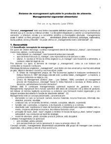Sisteme de Management Aplicabile in Productia de Alimente - Managementul Sigurantei Alimentului - Pagina 1