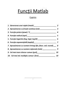 Funcții Matlab - Pagina 1
