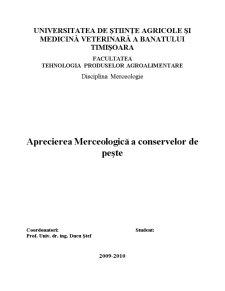 Aprecierea Merceologică a Conservelor de Pește - Pagina 1