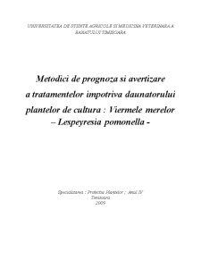 Viermele Merelor - Lespeyresia Pomonella - Pagina 1