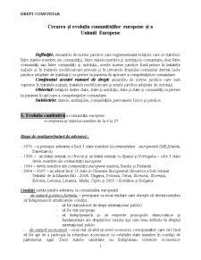 Crearea și Evoluția Comunităților Europene și a Uniunii Europene - Pagina 1