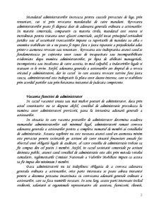 Administrarea Societatii Comerciale pe Actiuni - Sistemul Unitar - Pagina 2