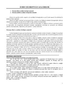 Subiecții Dreptului Afacerilor - Pagina 1