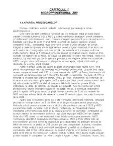 Microprocesorul Z80 - Pagina 1