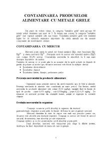 Contaminarea Produselor Alimentare cu Metale Grele1 - Pagina 1