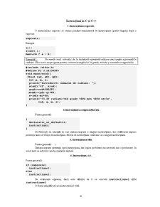 Instructiuni in C si C++ - Pagina 1